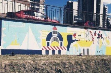 НаРусановской нарисовали огромное граффити сосценами из«Евгения Онегина»