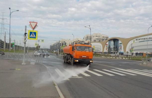 Более 12 тысяч тонн грязи вывезли спетербургских улиц вавгусте