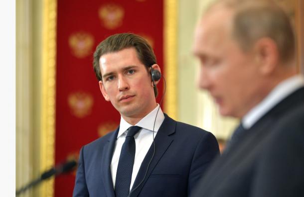 Путин вПетербурге встретится сканцлером Австрии