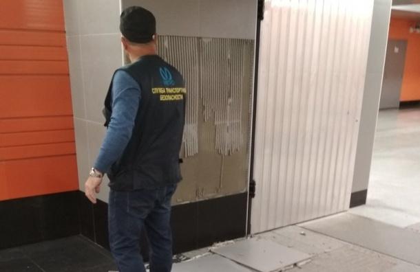 Плитка на«Беговой» отвалилась через 3 месяца после открытия станции