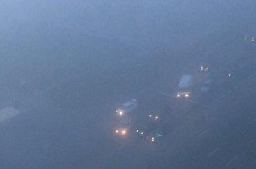 Три машины столкнулись втумане наХасанской