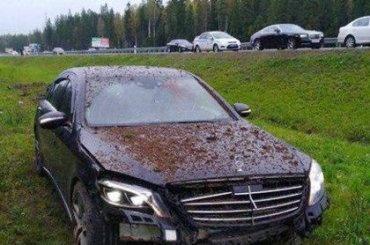 Mercedes Шенгелии расстреляли измашины сфинскими номерами