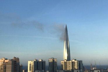 «Кукурузина горит»: очевидцы сообщили опожаре в«Лахта центре»