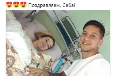 «Зенит» поздравил Дриусси сPрождением дочери