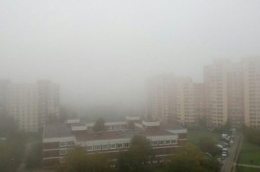 Туман накрыл югПетербурга