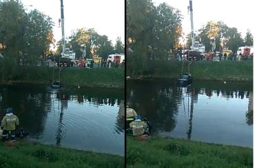 Водитель вместе смашиной утонул вЧерной речке