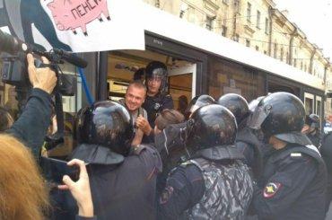 МВД: намитинге против пенсионной реформы было небольше 1200 человек