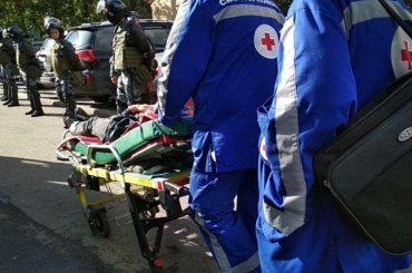 Пострадавшую намитинге Шахназ Шитик увезли изполиции вбольницу