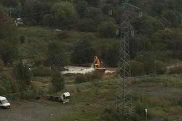 Экскаватор вКудрове повредил трубу