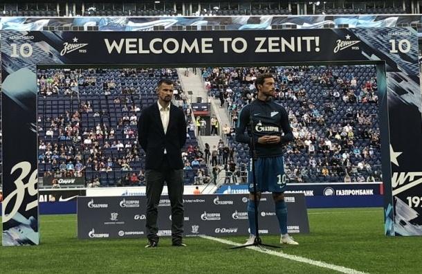 «Зенит» представил Маркизио перед товарищеской игрой с«Кайратом»