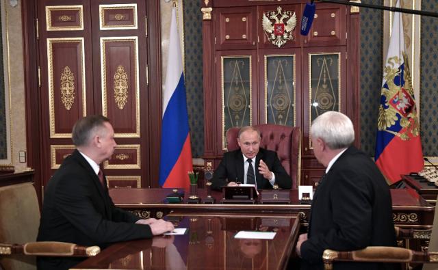 Полтавченко и Путин, отставка 3 октября 2018 года, фото: kremlin.ru 3