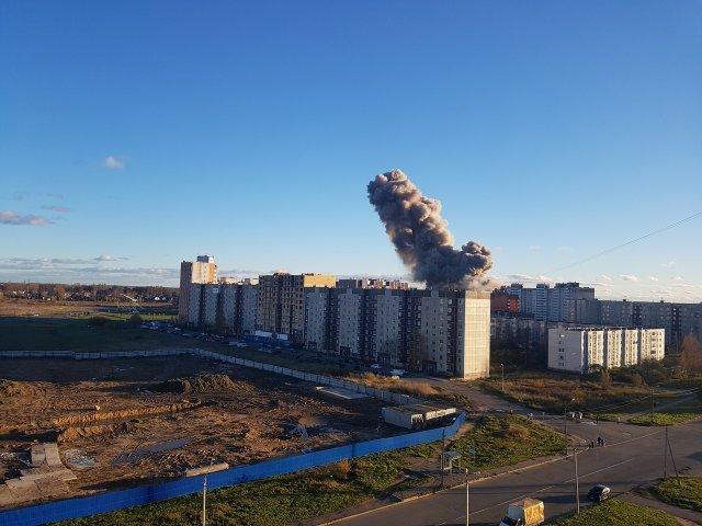 Гатчина, взрыв, Ленобласть, дтп, чп, происшествие, завод, взорвалось  3