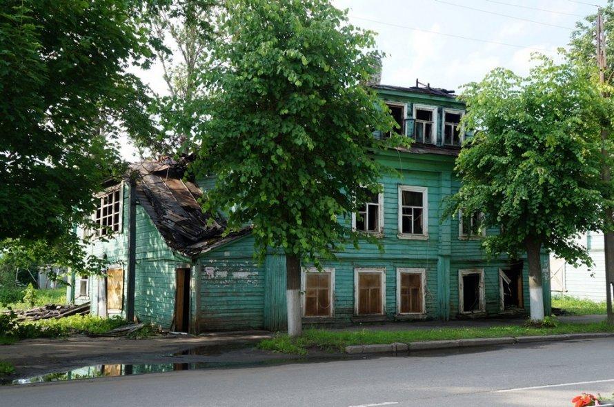 Дом Агаповой после пожара в июле 2017 года