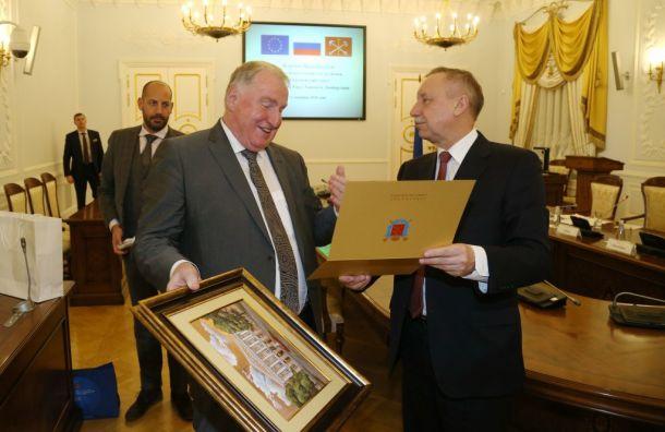 Беглов обсудил межрегиональное сотрудничество состранамиЕС
