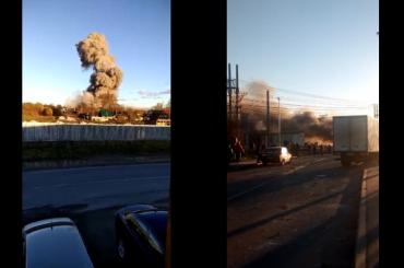 Поезда всторону Усть-Луги перестали ходить из-за взрыва вЛенобласти