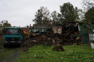 Дом Агаповой снесли вНовой Ладоге