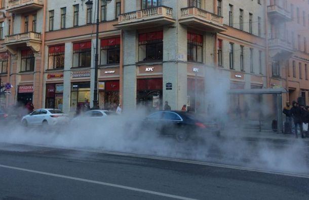 Трубу скипятком прорвало наМосковском проспекте