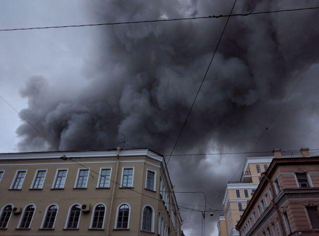 Пожар в  13