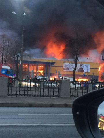 Пожар в  4