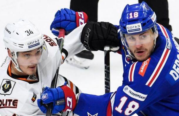 Дубль Барабанова помог СКА обыграть «Амур»