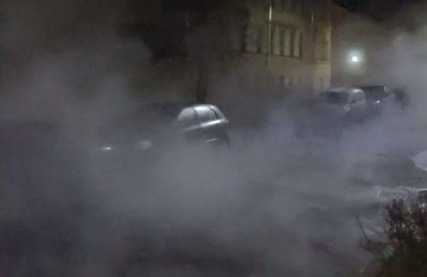 Трубу скипятком прорвало наПосадской улице вКронштадте