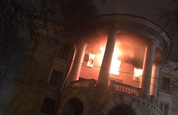 Бывшее общежитие загорелось вКировском районе