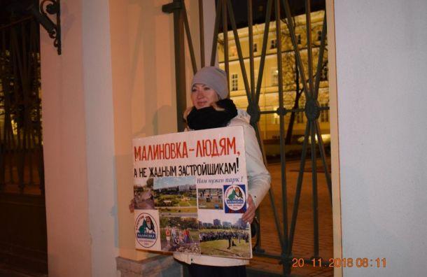 Албин: мыпротив застройки парка «Малиновка»
