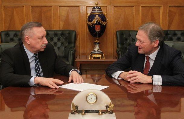 Беглов обсудил сТитовым развитие бизнеса вПетербурге