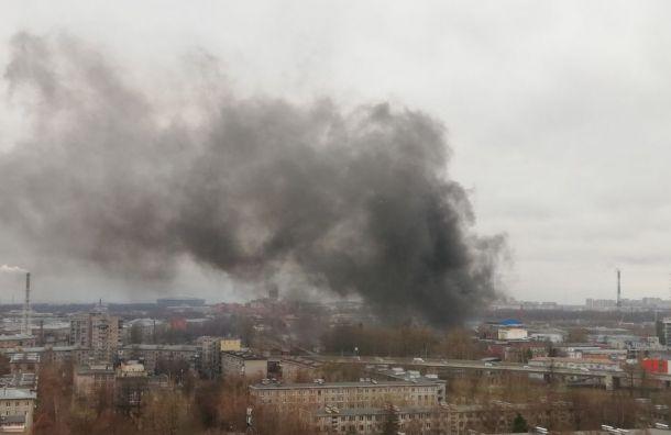 Пожар натерритории завода уметро «Пионерская» потушен