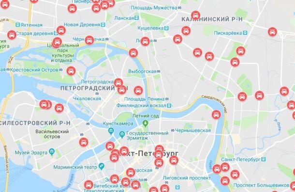 Составлена карта самых аварийных участков дорог Петербурга