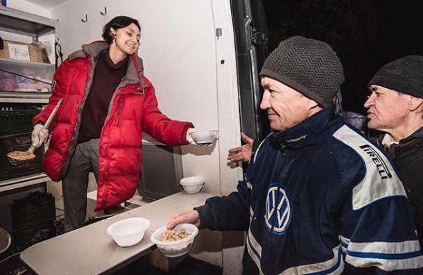 Сеть ресторанов Tokio-City пожертвовала 284 тысячи рублей для бездомных