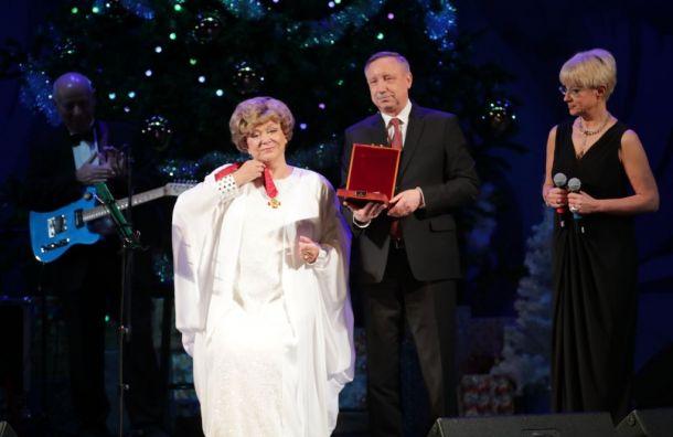 Беглов наградил Пьеху орденом «Зазаслуги перед Отечеством»
