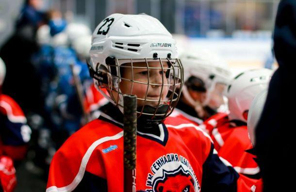 Детский хоккей вСанкт-Петербурге. Новогодний праздник вСК «Юбилейный»