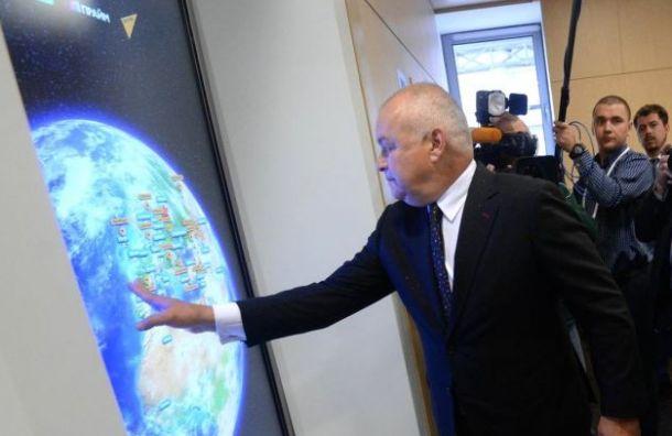 Киселев— Андреевой: агрессия нателевидении появляется из-за Запада
