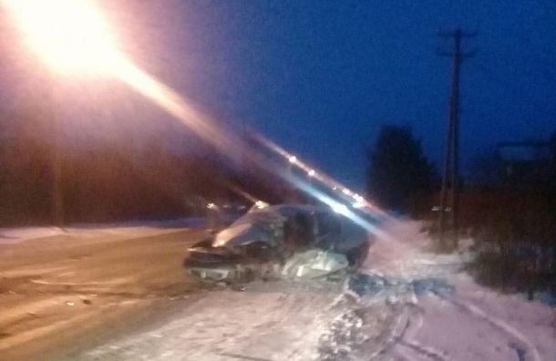 Два человека погибли вДТП смаршруткой наРопшинском шоссе