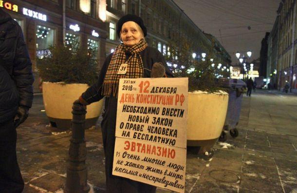 Полиция окружила художницу Осипову из-за плаката оДне Конституции