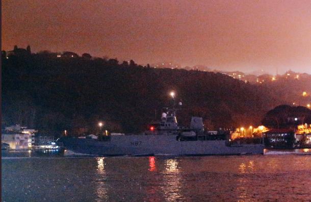 Британский корабль-разведчик появился вЧёрном море