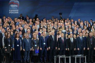Съезд партии «Единая Россия» начался вМоскве