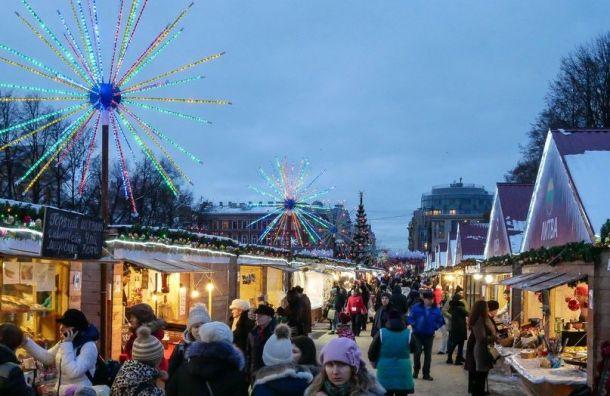 ВПетербурге наПионерской площади начнёт работу главная Рождественская ярмарка