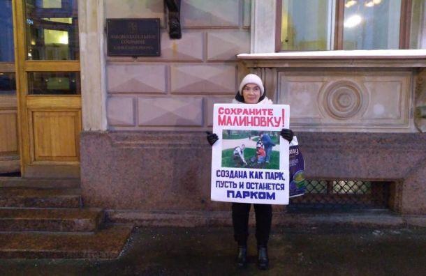 Защитники парка Малиновка выйдут наодиночный пикет уЗакСа