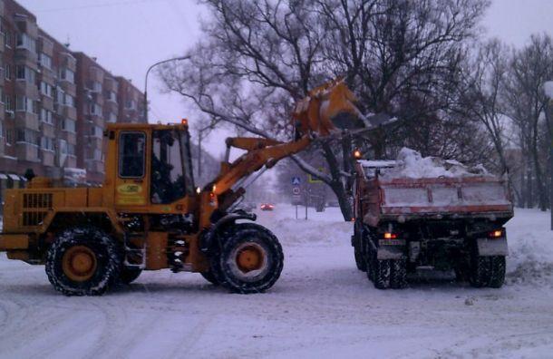 Науборку снега вПетербурге выделено 60% средств отнормы