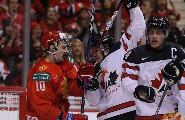 Молодежная сборная России похоккею обыграла канадцев вНовый год