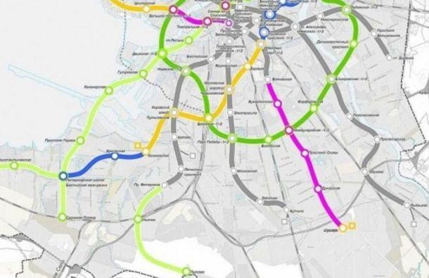 Проект участка Кольцевой линии петербургского метро согласовали