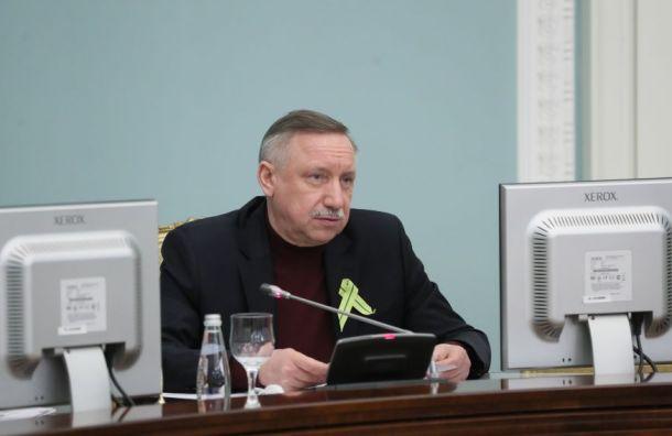 Беглов поручил петербургским предпринимателям очистить крыши отснега