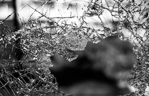 Хулиган разбил стекло иударил полицу сотрудницу букмекерской конторы
