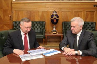 Беглов встретился спрезидентом «Лукойла» иглавой ВТБ
