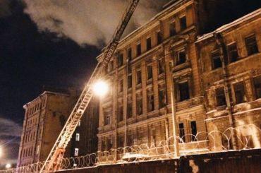 Дореволюционные дома горят наТележной улице