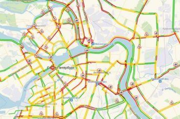 Неопять, аснова: Петербург встал вдевятибалльных пробках