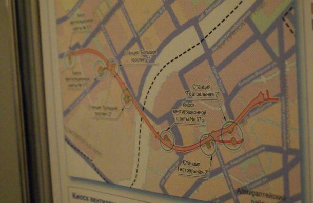 Расположение новых станций оранжевой ветки метро определили вСмольном