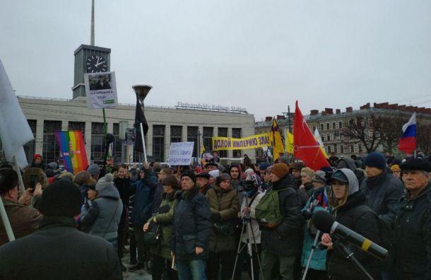 Митинг памяти Немцова проходит под лозунгом «Борись, Петербург»